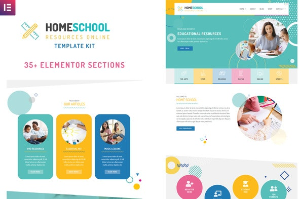 HomeSchool - Elementor Template Kit - Education Elementor