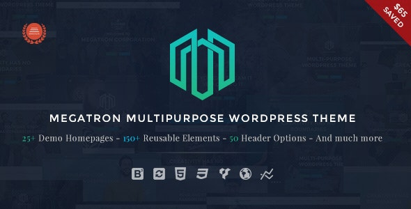 Megatron - Responsive MultiPurpose WordPress Theme - Business Corporate