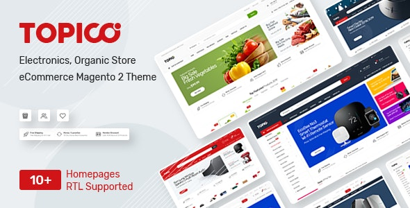 Topico - Responsive Magento 2 Theme - Shopping Magento
