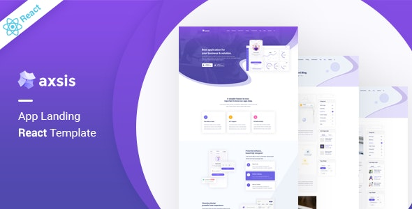 axsis - React App Landing Template - Technology Site Templates