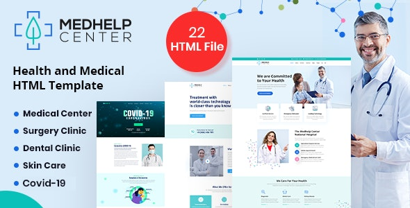 MedHelp Center Health And Medical Html5 Template - Health & Beauty Retail
