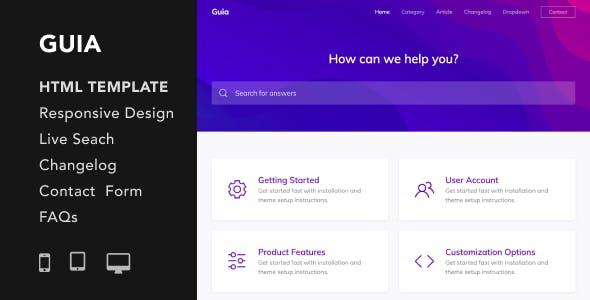 Guia - Helpdesk and Documentation HTML5 Responsive Template