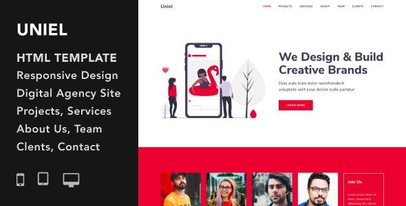 Uniel - Digital Agency HTML5 Responsive Template - Portfolio Creative