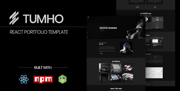 Tumho - Personal Portfolio React Template - Portfolio Creative