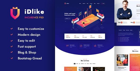 Idlike - Creative Agency PSD Template - Marketing Corporate