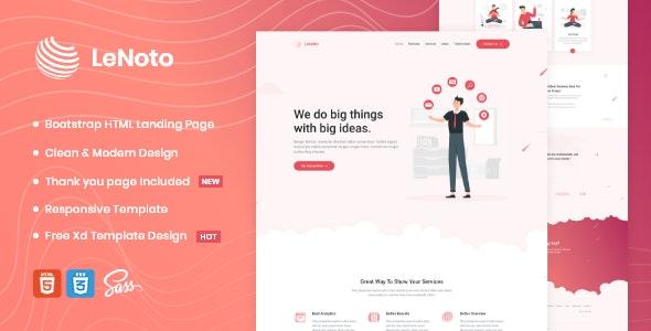 LeNoto - Isometric Business HTML Landing Page - Marketing Corporate