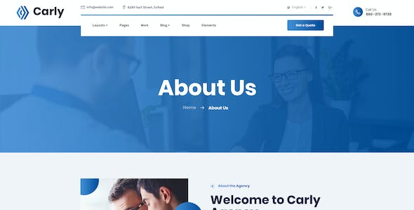 Carly - Business PSD Template
