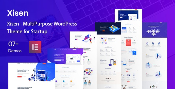 Xisen - MultiPurpose WordPress Theme for Startup - Software Technology