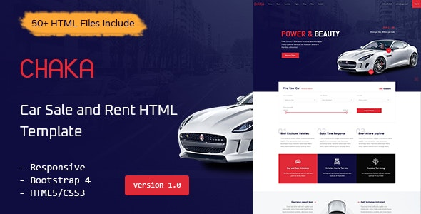 Chaka - Car Sale and Rent HTML Template - Business Corporate