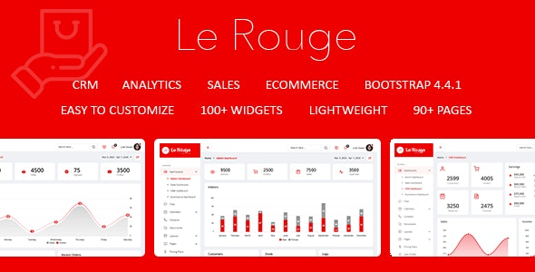 Le Rouge - Responsive Admin Dashboard Template - Admin Templates Site Templates