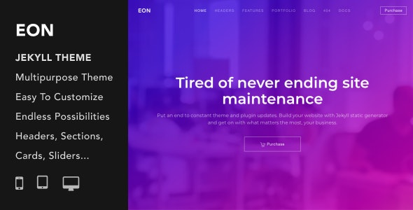 Eon | Multi-Purpose Responsive Jekyll Theme - Jekyll Static Site Generators