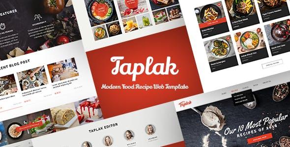 Download TAPLAK - Modern Food Recipe Web Template