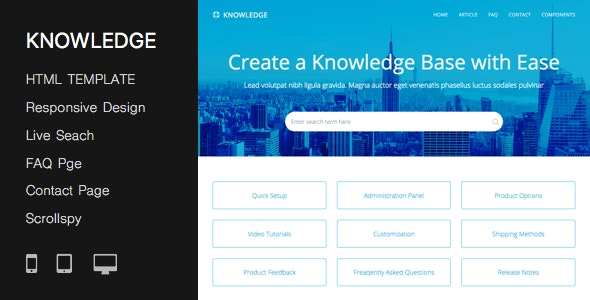 Responsive Knowledge Base & FAQ HTML Template - Miscellaneous Specialty Pages