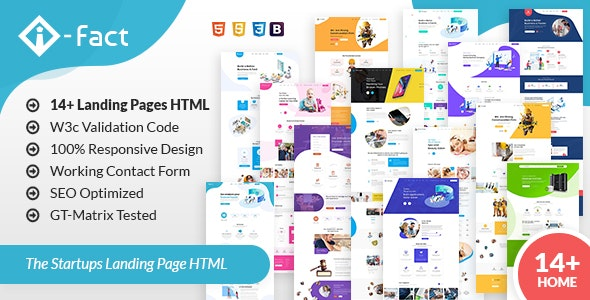 i-Fact Landing Page HTML Template - Business Corporate
