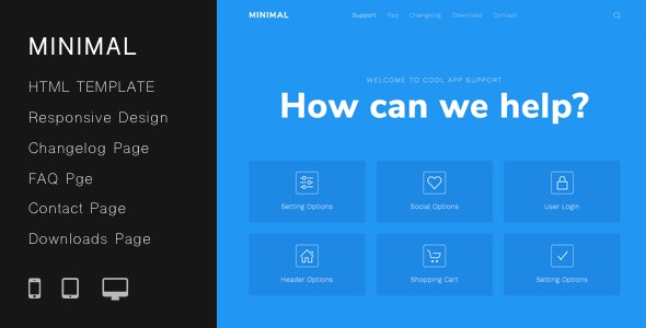 Minimal Helpdesk | Customer Support HTML Template - Business Corporate