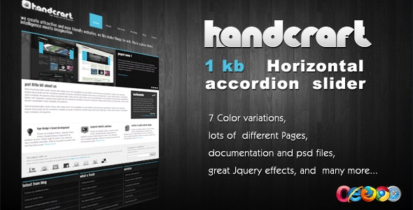 Handcraft 7 in 1 - Portfolio and Business template - Business Corporate