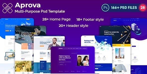 Aprova -Multi-Purpose-Creative PSD Template - Corporate Photoshop