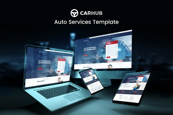 Carhub - Auto Services Template Kit - Automotive & Transportation Elementor