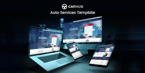 Carhub - Auto Services Template Kit