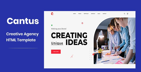 Cantus - One Page Agency HTML Template - Business Corporate