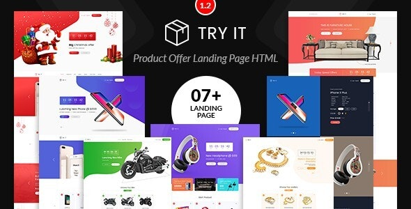 Tryit - Product Offer Landing Pages Template - Marketing Corporate
