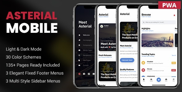 Asterial Mobile - Mobile Site Templates