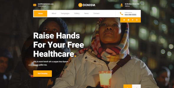 Donism - Nonprofit Charity PSD Template