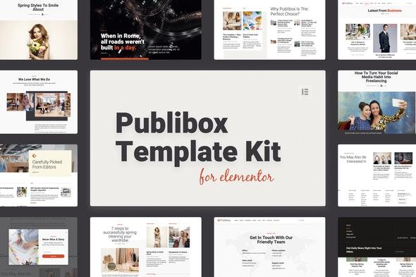 Publibox - Blog, News & Magazine Elementor Template Kit - News & Magazines Elementor