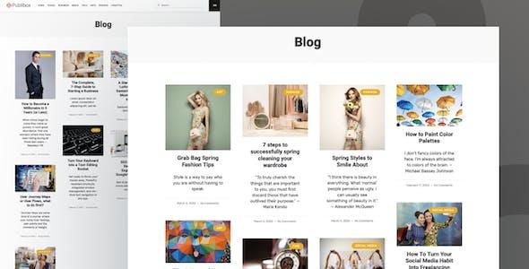 Publibox - Blog, News & Magazine Elementor Template Kit