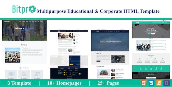 BitPro- Multipurpose Educational & Corporate HTML Template - Site Templates