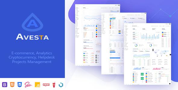 Avesta | Multipurpose Bootstrap4 Admin Dashboard Template