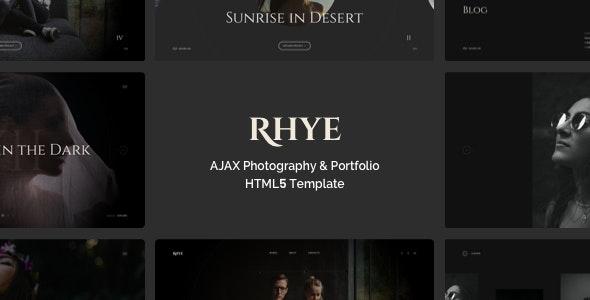 Rhye – AJAX Portfolio HTML5 Template - Portfolio Creative