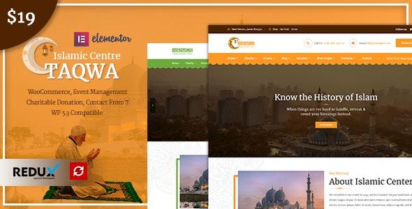 Taqwa - Islamic Center WordPress Theme - Churches Nonprofit