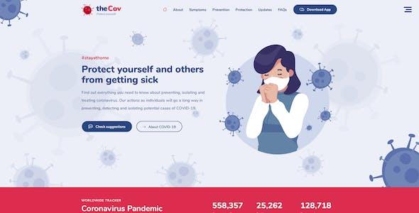 TheCov - Coronavirus Prevention & Assistance PSD Template