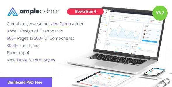 Ample Admin - Ultimate Dashboard Template - Admin Templates Site Templates