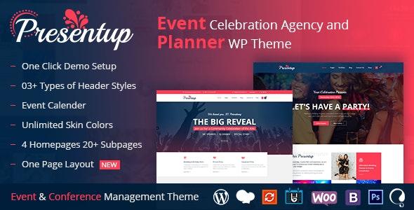 Presentup - Event Planner & Celebrations Management WordPress Theme - Events Entertainment