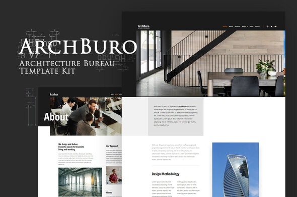 ArchBuro - Architecture Bureau Template Kit - Real Estate & Construction Elementor