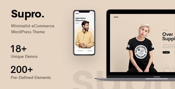 Supro - Minimalist AJAX WooCommerce WordPress Theme - WooCommerce eCommerce