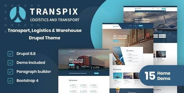 Transpix - Transport, Logistics & Warehouse Drupal 8.8 Theme With Page Builder - Business Corporate