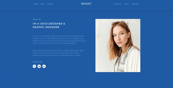Wasat — Creative Portfolio Elementor Template Kit