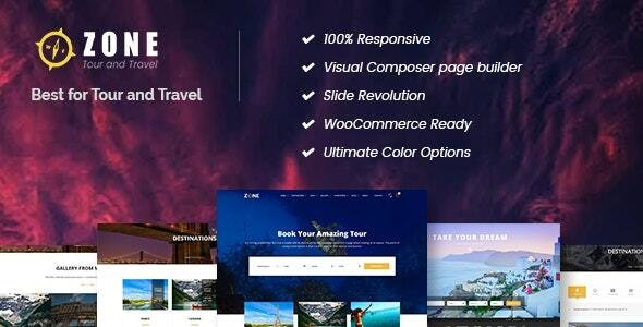 Zone - Tours and Travel WordPress Responsive Theme - Travel Retail