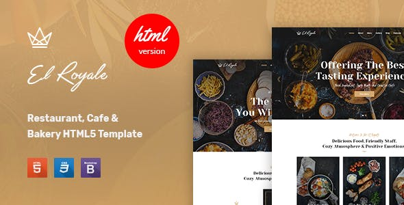 Elroyale - Restaurant & Cafe HTML5 Template
