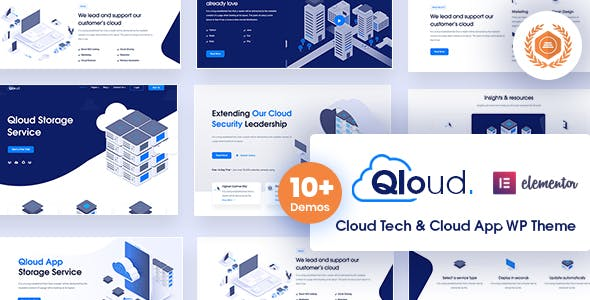 Download Qloud - Cloud Computing, Apps & Server WordPress Theme