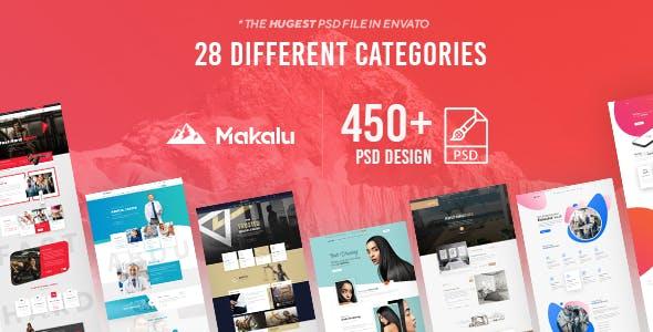 Makalu - Multi-Purpose PSD Template