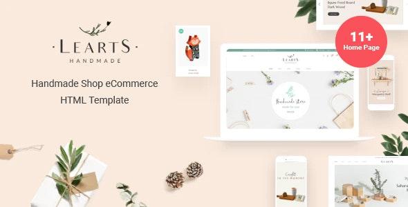 Learts Handmade Shop eCommerce HTML Template