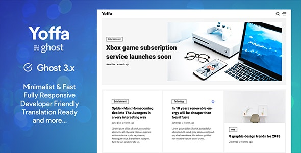 Yoffa - a Minimal & Lightweight Ghost Theme - Ghost Themes Blogging