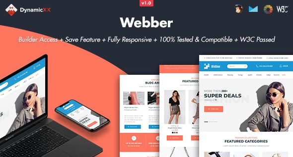 Webber - Responsive Email + Online Template Builder - Email Templates Marketing