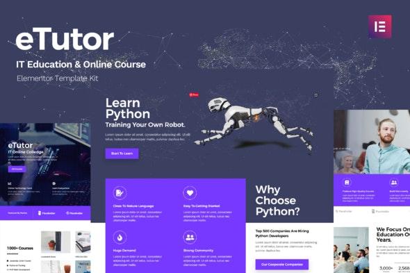 eTutor - Education & Online Course Elementor Template Kit - Education Elementor