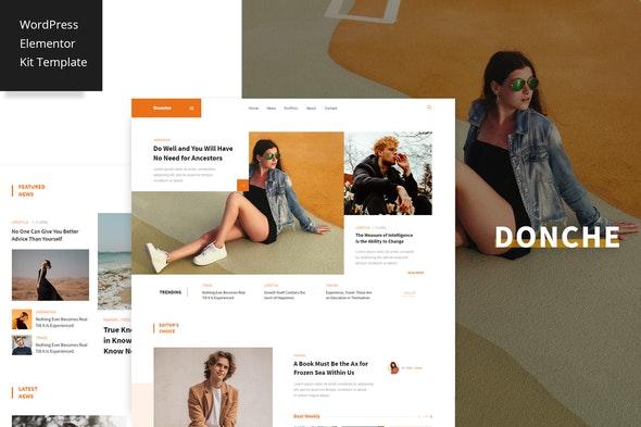 Donche - News & Magazine Template Kit - News & Magazines Elementor