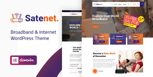 Satenet - Broadband & Internet WordPress Theme - Technology WordPress